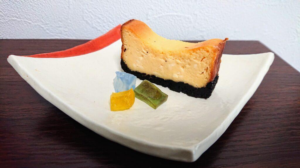 琥珀等とチーズケーキ